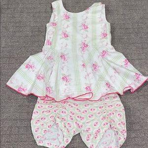 Size 6 Olive Mae sleeveless top and shorts set